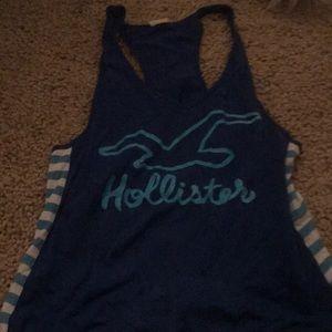 Blue Hollister tank top